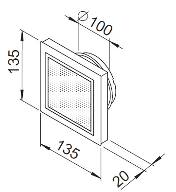 bouche d 39 insufflation design plastique avec filtre r glable 100. Black Bedroom Furniture Sets. Home Design Ideas