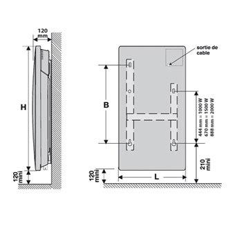 Panneau rayonnant solius ecodomo vertical 1500w - Panneau rayonnant vertical 1500w ...