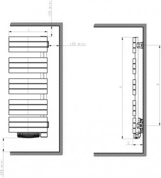 radiateur s che serviette nefertiti pivotant 1000 1000w. Black Bedroom Furniture Sets. Home Design Ideas
