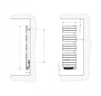 radiateur s che serviette nefertiti etroit 750 1000w. Black Bedroom Furniture Sets. Home Design Ideas