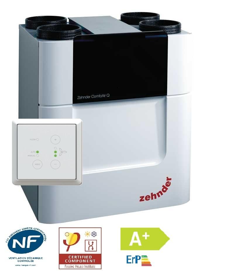 Vmc double flux zehnder comfoair q 600 for Vmc double flux zehnder