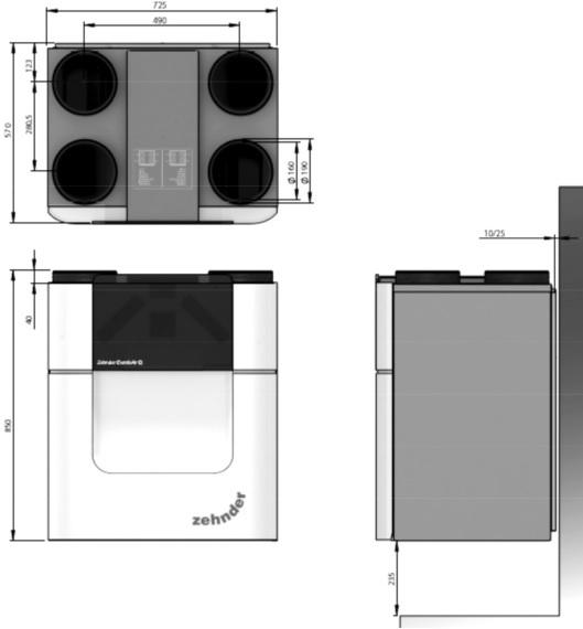 vmc double flux zehnder comfoair q 600. Black Bedroom Furniture Sets. Home Design Ideas