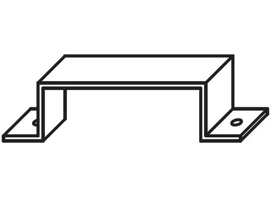 etrier de fixation pour conduit rectangulaire galva 200x50mm. Black Bedroom Furniture Sets. Home Design Ideas
